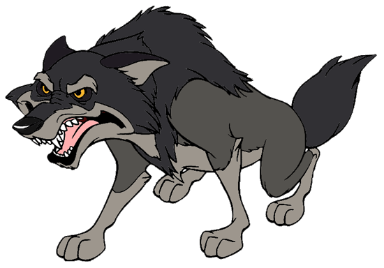Злой серый волк рисунок