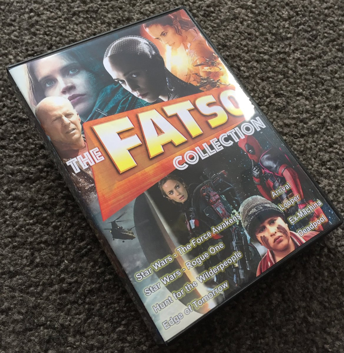 Case that holds 8 DVDs finally arrived, so my @fatsoDVD collection is all done. Still miss you guys! https://t.co/oZNHFnPzmo