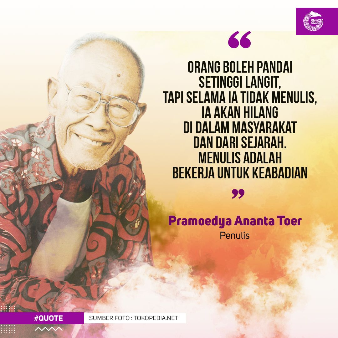 "Good News From Indonesia on Twitter: ""[QUOTE] ""Menulis adalah ..."