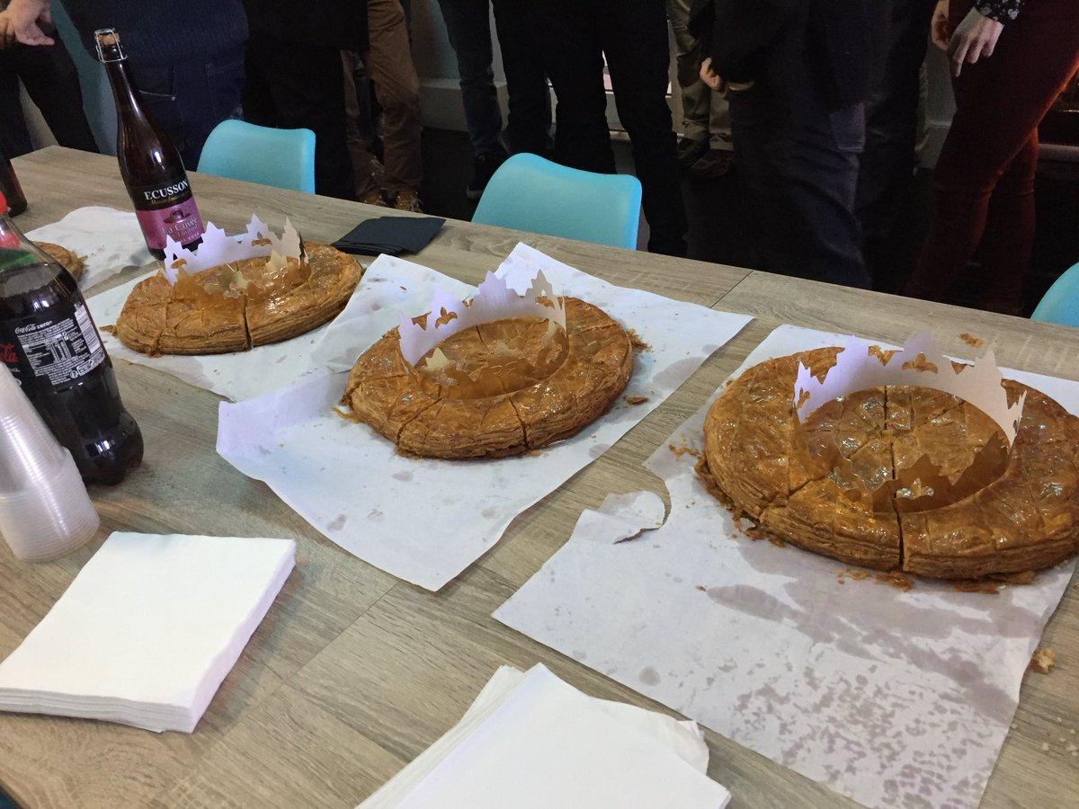 Plutôt #galettedesrois frangipane ou briochée? Les startup de @Bdx_Technowest ont tranché à l'#aeroparcBTW !