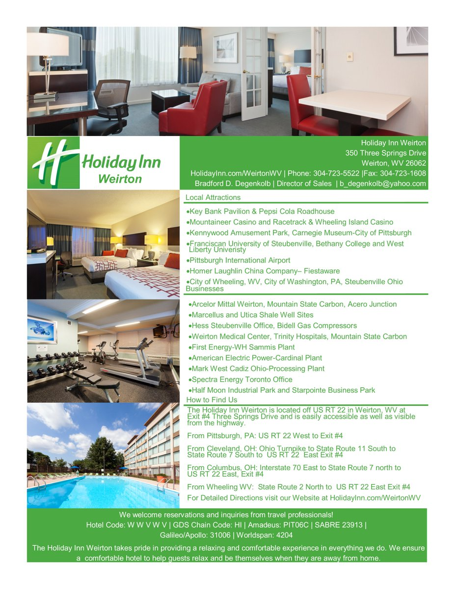 Holiday Inn Weirton On Twitter Why Choose The When Visiting Steubenville Oh Or Wv Area Easy Question To Answer