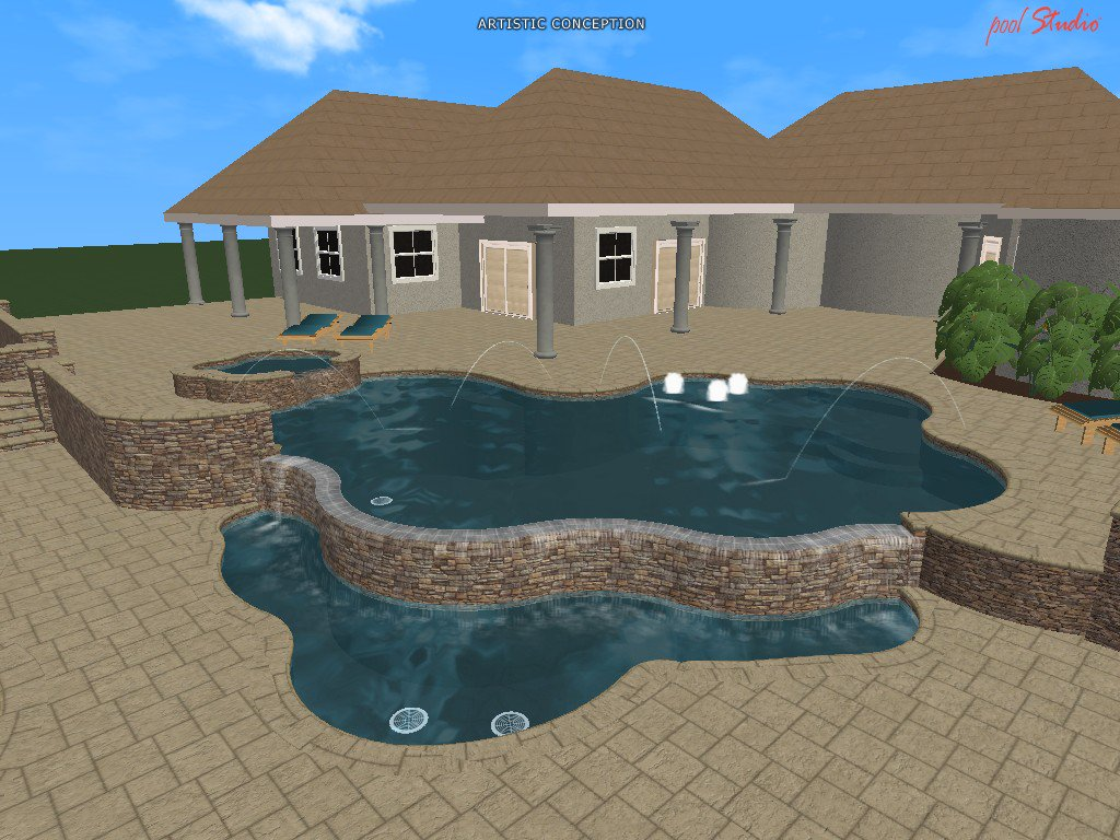 3d Swimming Pool Design Software. See Your New Pool Before Even Breaking  Ground. That