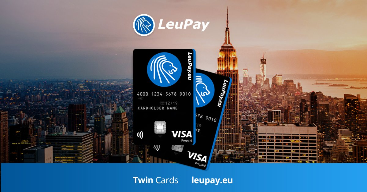 Leopay On Twitter Get Your Free Leupay Twin Visa Cards No