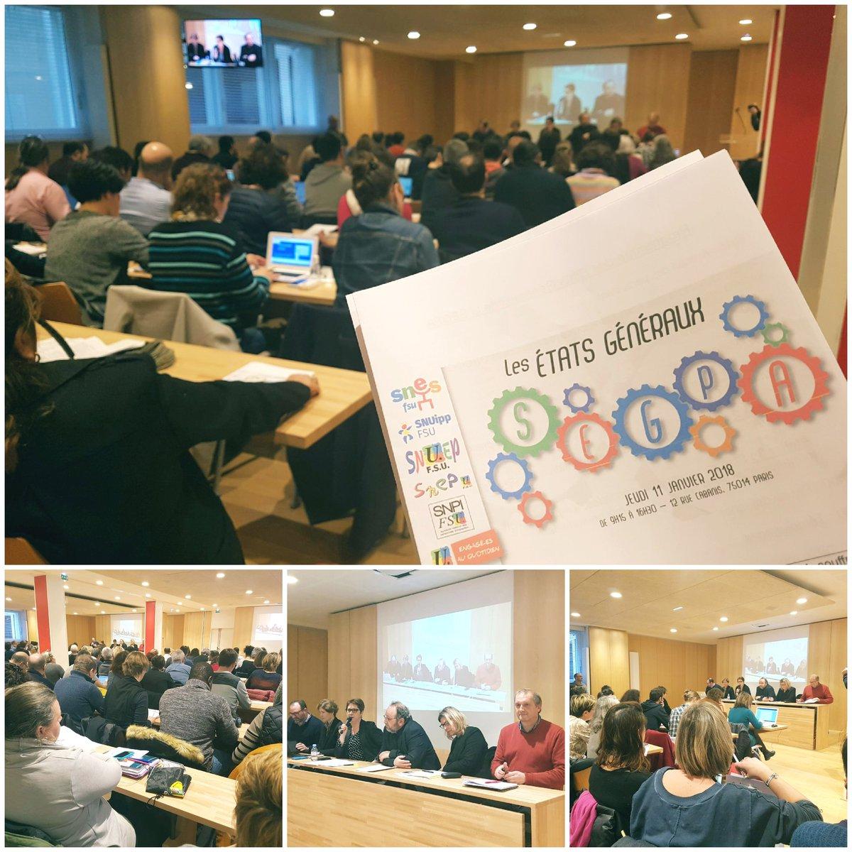 Lancement des États Généraux des #SEGPA de la #FSU. Enseignement adapté, où en est-on ? Plus de 100 collègues réunis pour discuter de l'avenir de l'adaptation scolaire. #SEGPAsnuipp https://t.co/ESdG71qpK1