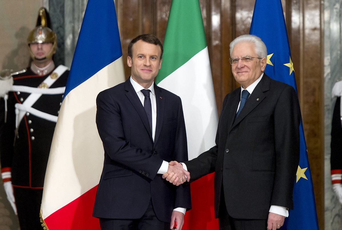 #Quirinale: il Presidente #Mattarella riceve il Presidente della Repubblica Francese @EmmanuelMacron https://t.co/zH2tky9HBM