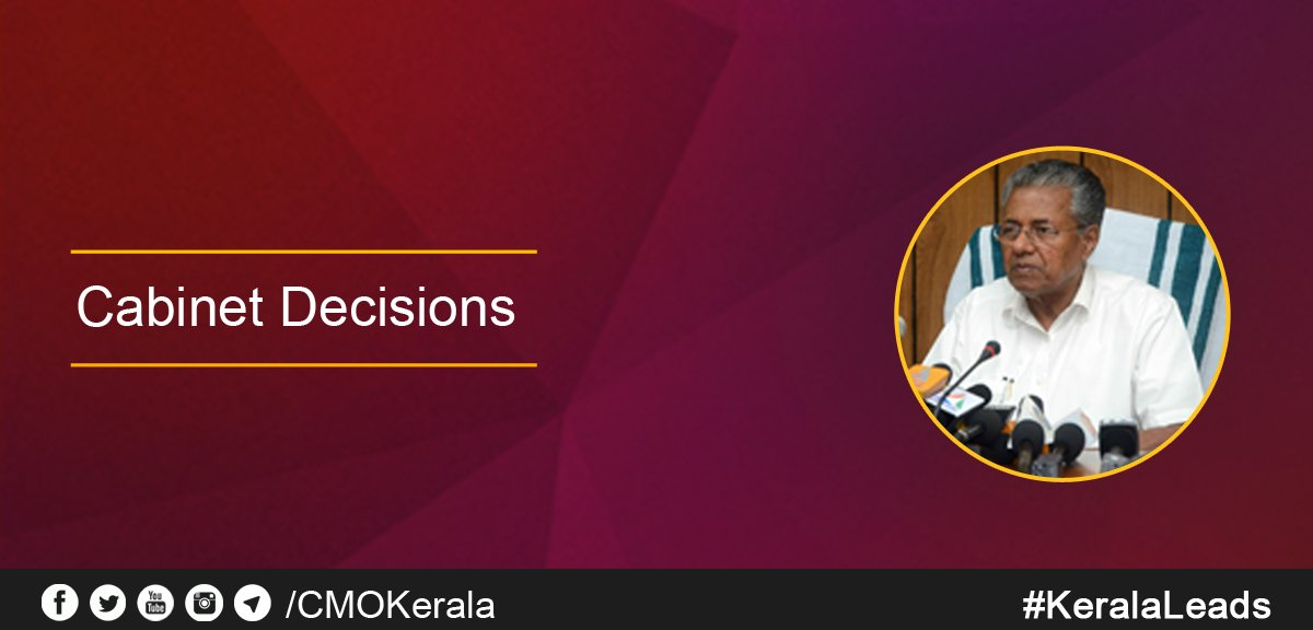 """cmo kerala on twitter: """"cabinet decisions 