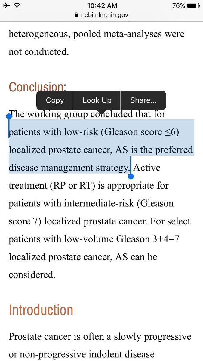 prostate cancer gleason score 6 treatment