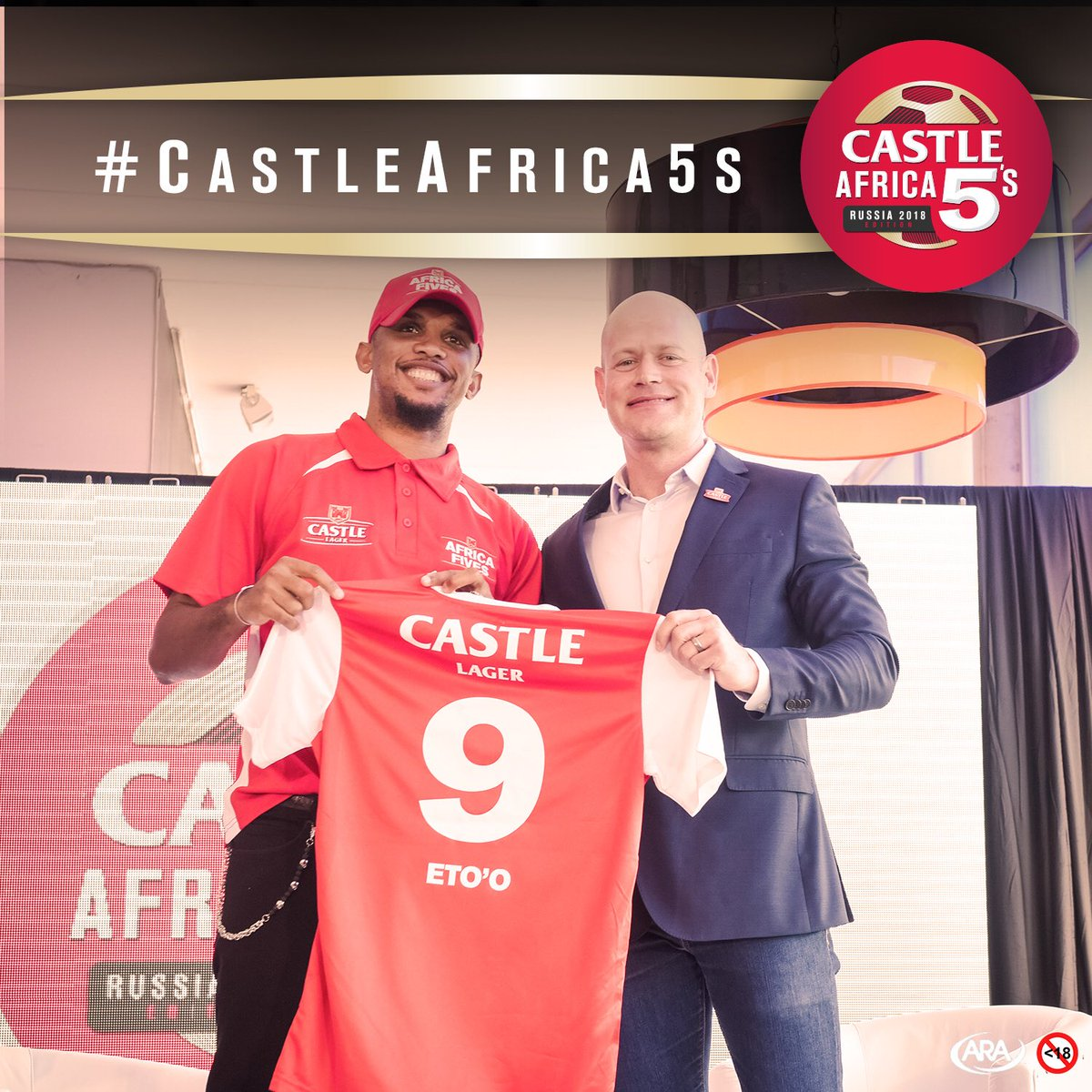 Today legends come together for the official #CastleAfrica5s launch. We are proud to announce @setoo9 as our ambassador!