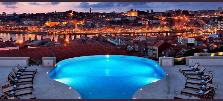 The stunning pool view at @TheYeatman, #Porto's luxury wine hotel. #Portugal https://t.co/itsLb4YNmg