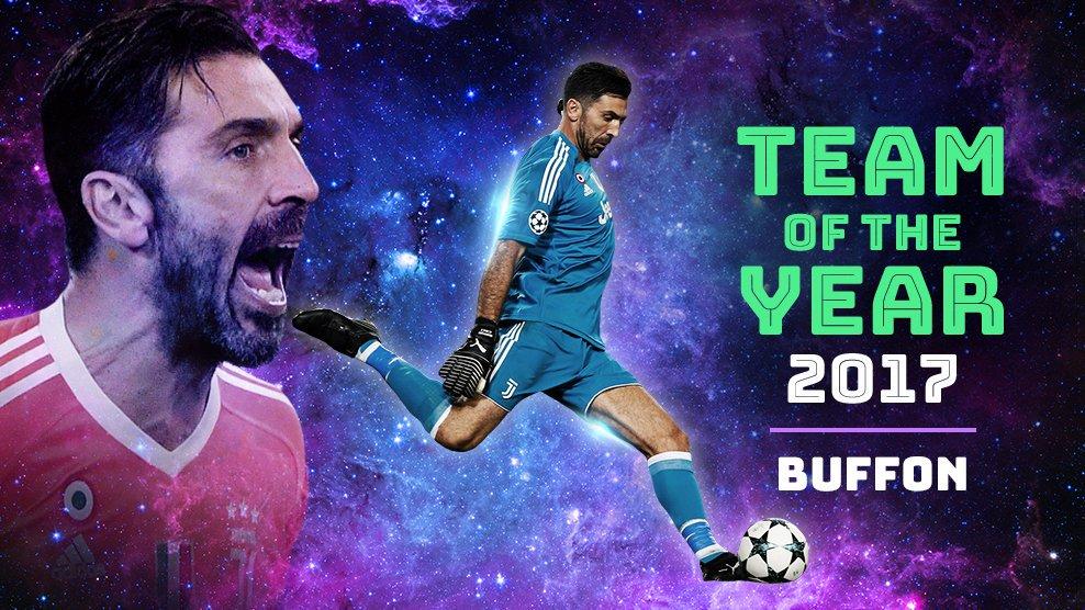 👏👏👏 Congratulazioni a Gianluigi #Buffon eletto nella Squadra dellAnno 2017 di UEFA.com 👉 bit.ly/2EyCumC @gianluigibuffon @juventusfc