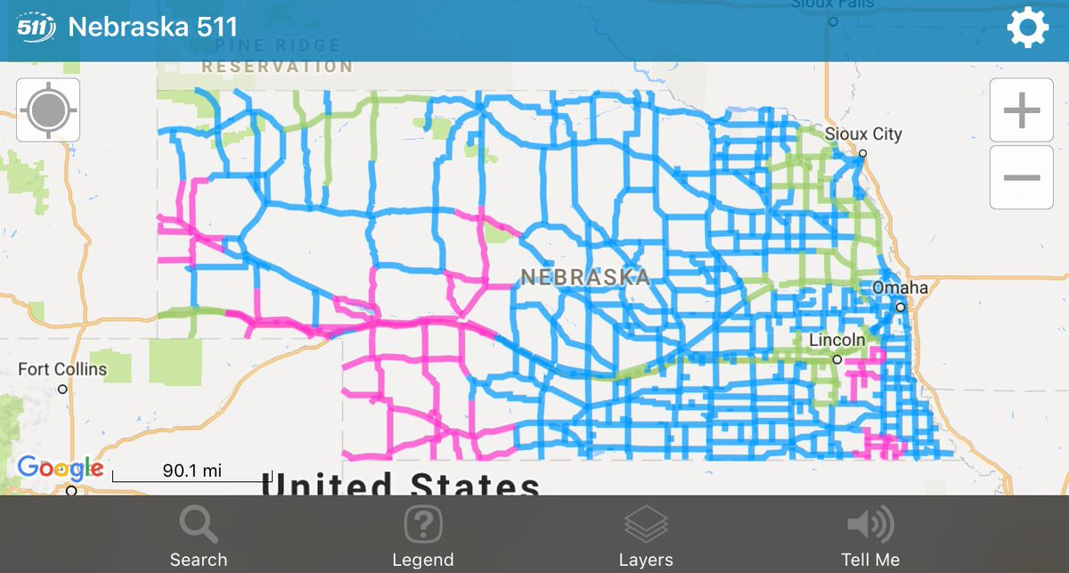 511 nebraska road conditions map Nebraska Dot On Twitter Here S A Look At Road Conditions On The 511 nebraska road conditions map