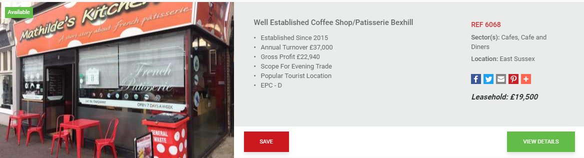 REF: 6068 - Well Established Coffee Shop/Patisserie Bexhill http://www.blacksbrokers.com/6068/business.aspx#.WldTXgotpC4.twitter … #blacksbusinessbrokers #Cafe #cofeeshop #EastSussex #Bexhill #businessforsale #leasehold pic.twitter.com/DmOwHMNsUg
