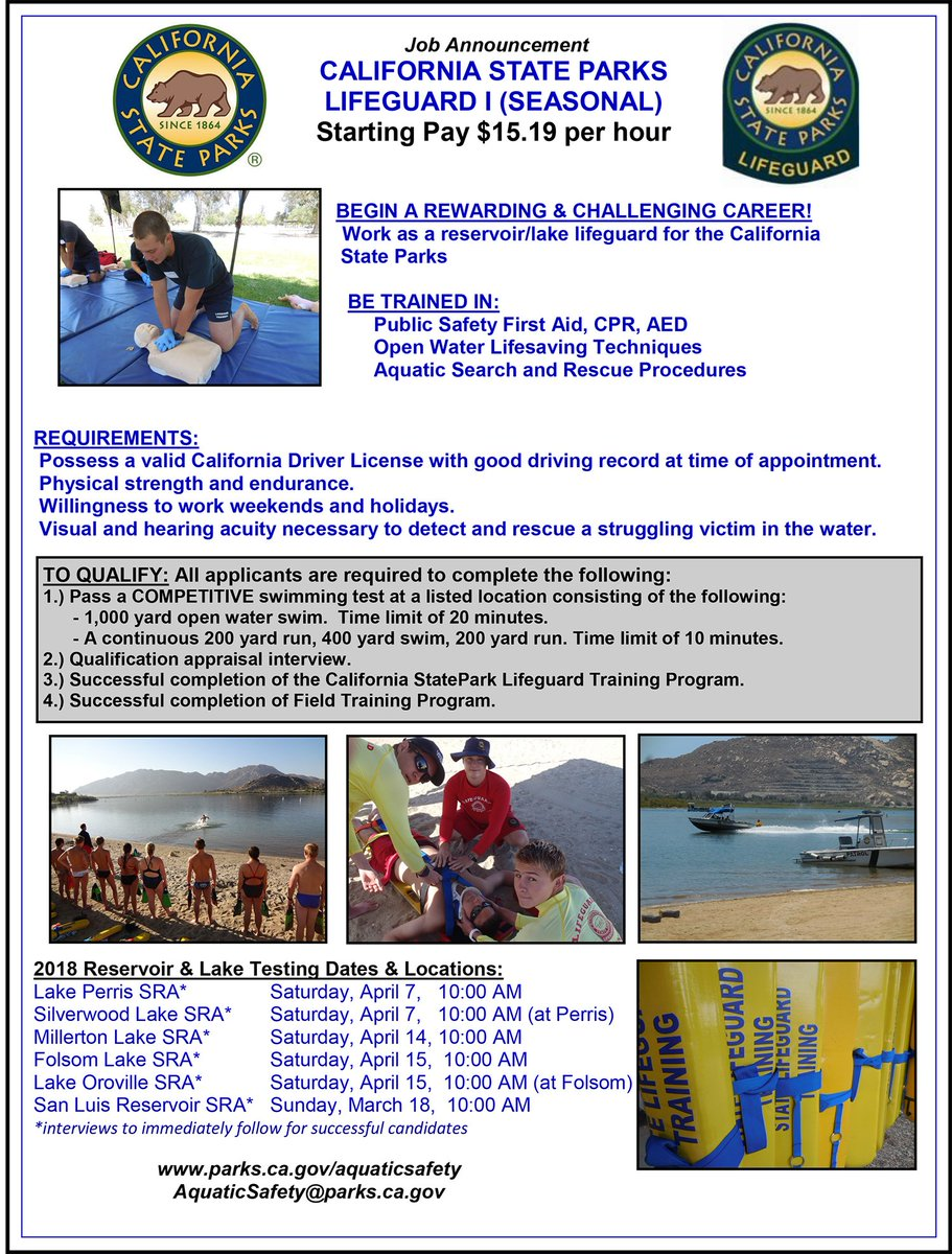 Ca state parks on twitter 6 weeks until the first tryout for 1006 am 11 jan 2018 from california usa 1betcityfo Images