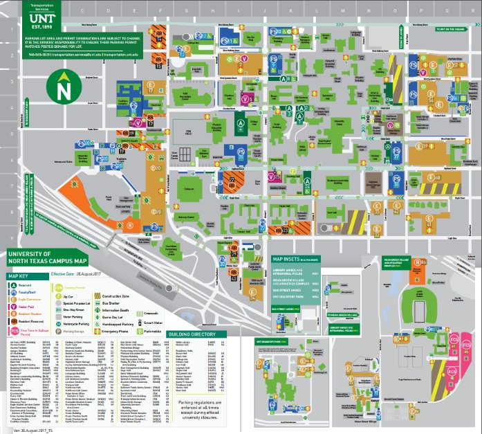 unt campus map 2016 Unt Transportation On Twitter Need A Unt Parking Permit For The