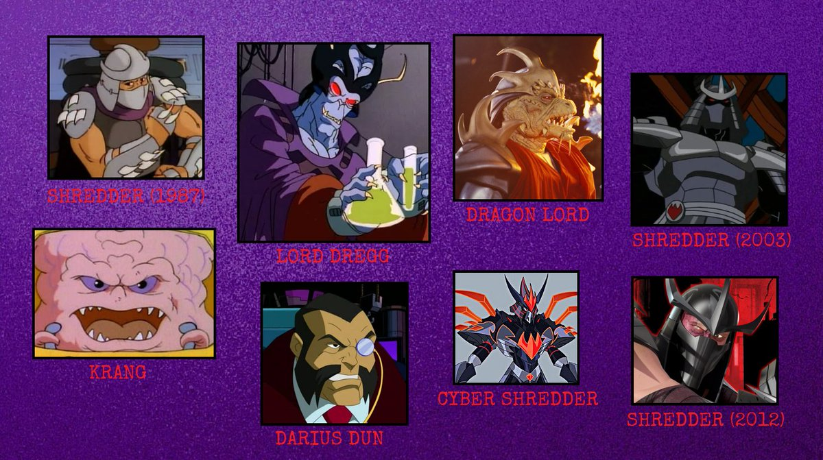 Tmnt Fan 86 On Twitter With Today S Announcement Of Baron Draxum The New Villain In Rise Of The Teenage Mutant Ninja Turtles Here S A Look At Some Of The Main Villains From