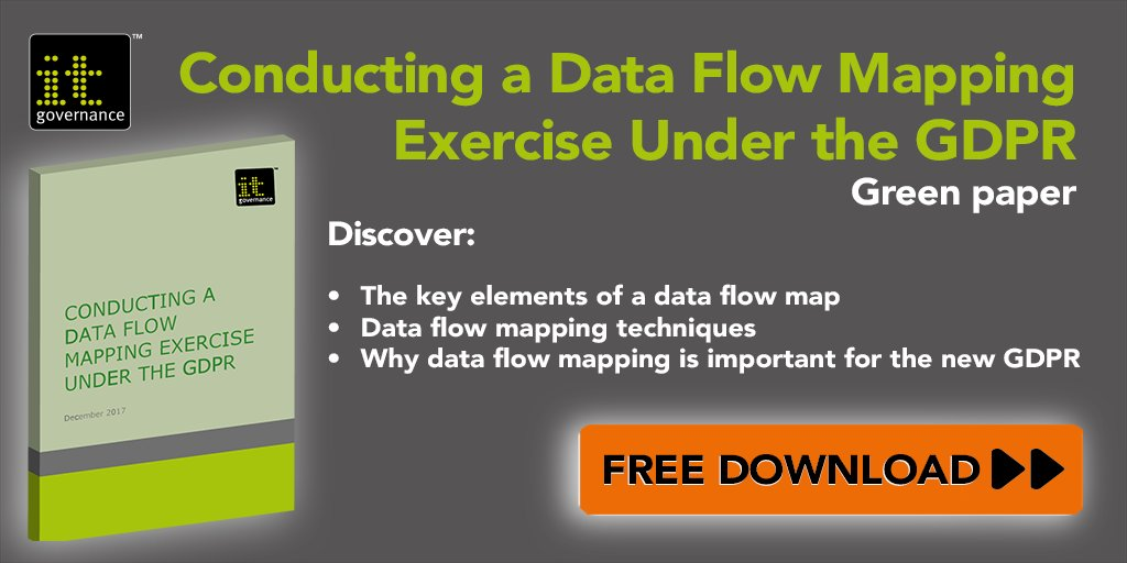 IT Governance On Twitter Free Download Conducting A Data Flow - Data mapping exercise