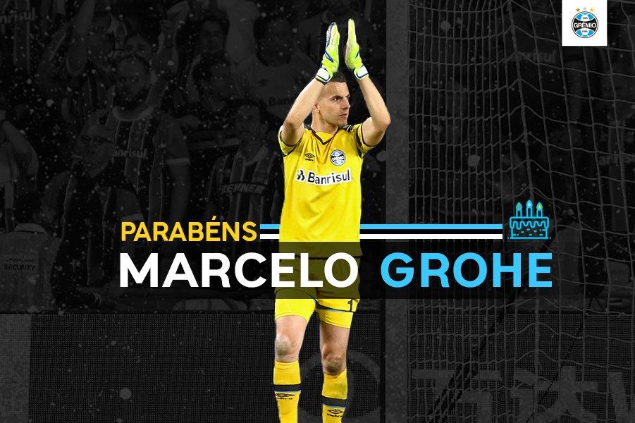 Hoje é aniversário do goleiro Marcelo Grohe! Parabéns, MilaGrohe! 🇪🇪️👏🎂🎉