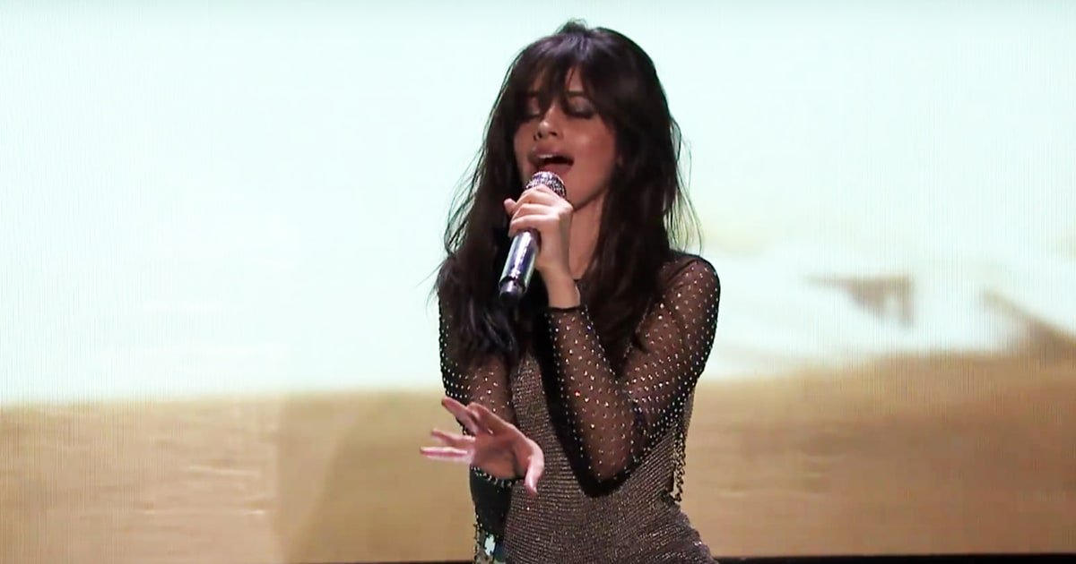 Watch Camila Cabello's powerful 'Never B...