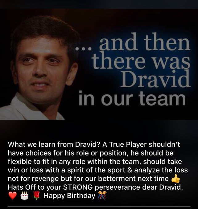 Obviously Rahul Dravid that s my whatsapp status pic for today