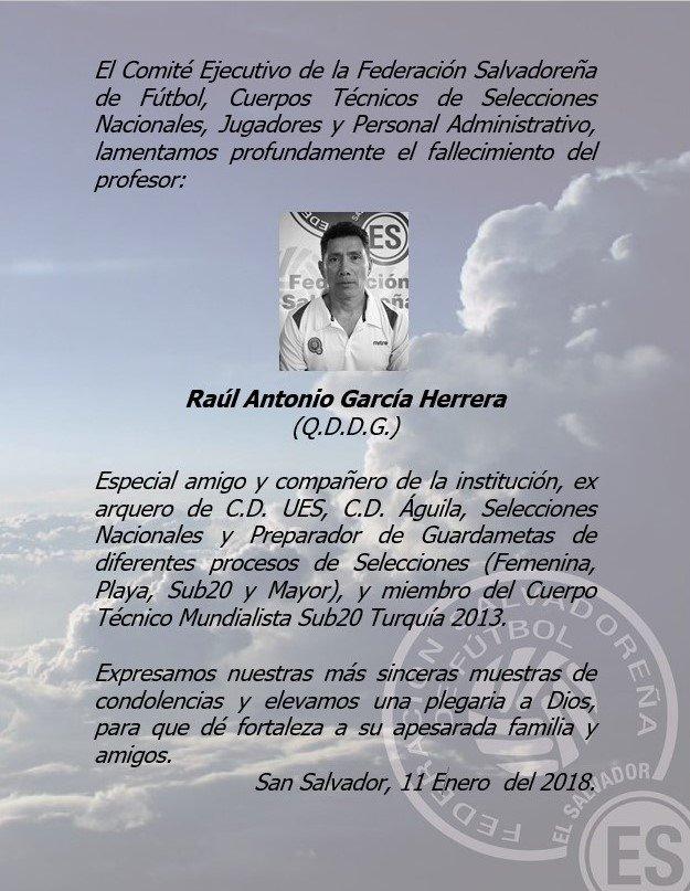 Fallecio Raul Antonio Garcia 1962-2018. DTRw7w8W0AALpoi