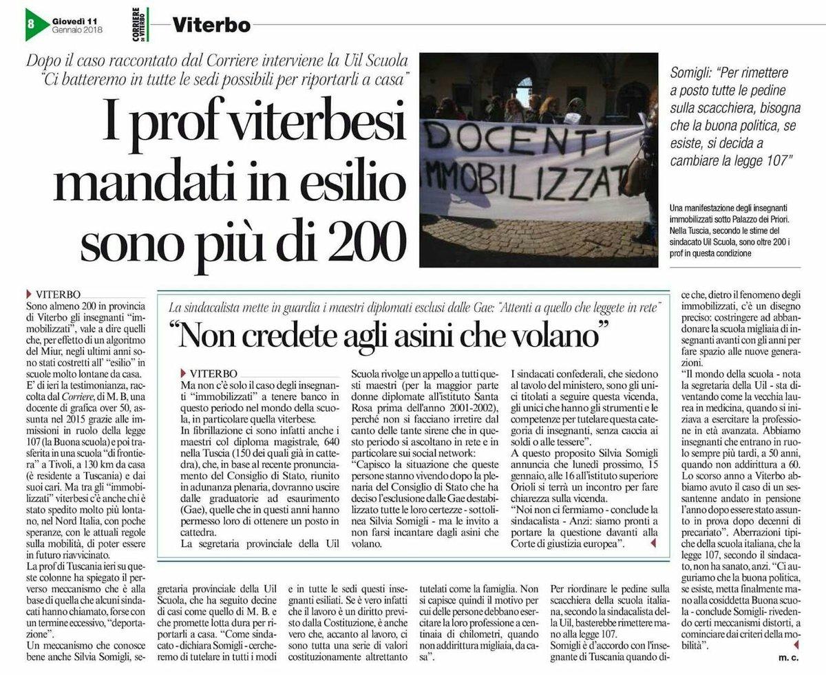 #corrierediviterbo #11Gennaio  #DocentiF...