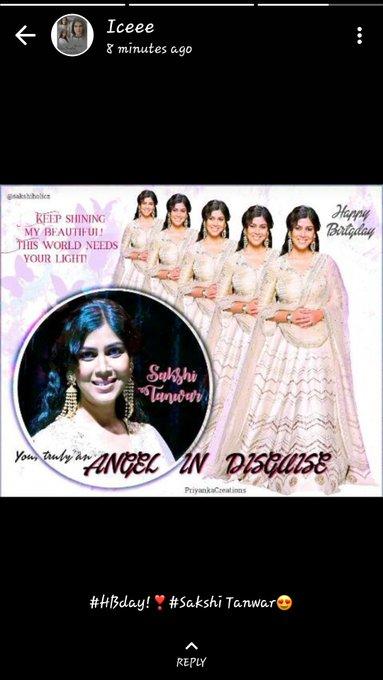 Sister\s whatsapp status!!!  Happy Birthday Sakshi Tanwar