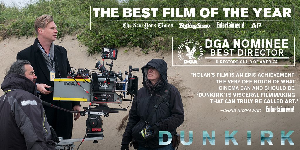 Congratulations to Christopher Nolan on his DGA nomination for #Dunkirk. https://t.co/YQW6f83ESh