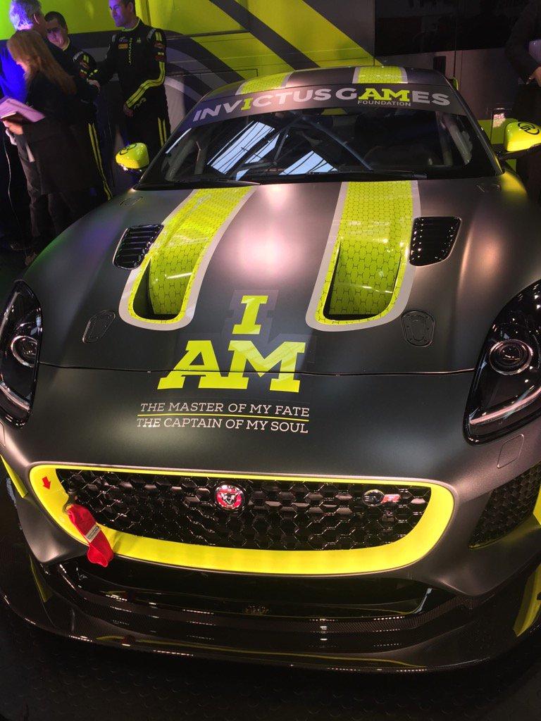 Stunning new Invictus Games Racing Jaguar F-Type SVR cars unveiled today at Autosport International.