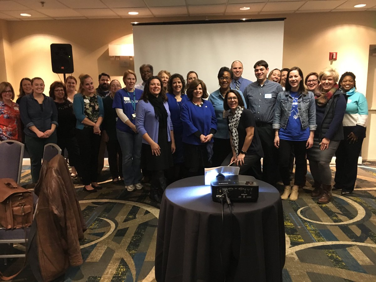 BCPS AP's & DC's rocking their blue for Team BCPS Day!