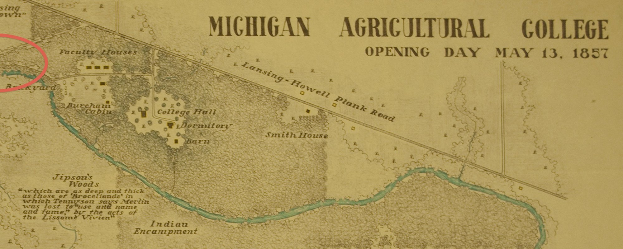1857: MAC Opening Day Map Shows Indian Encampment