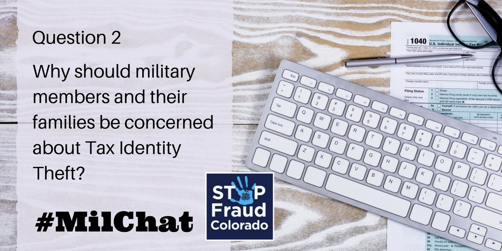 A2: It is important to control your privacy as much as possible. #Military members can place an active duty alert to monitor their credit and prevent fraudulent activity while on duty. More info: https://t.co/oXZGdWldgj #MilChat