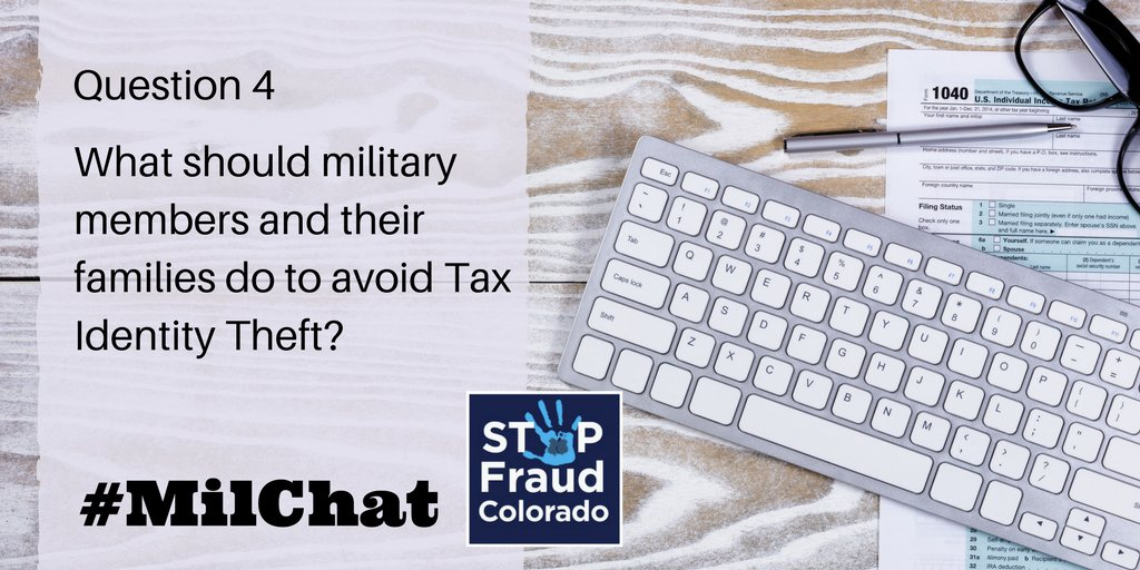 A4: Most important thing #military families can do to protect themselves is  don't give out personal financial info over the phone, mail, or Internet unless you know the company or person. Here is a full list of tips to keep your info safe https://t.co/WVZSaCFK68 #MilChat