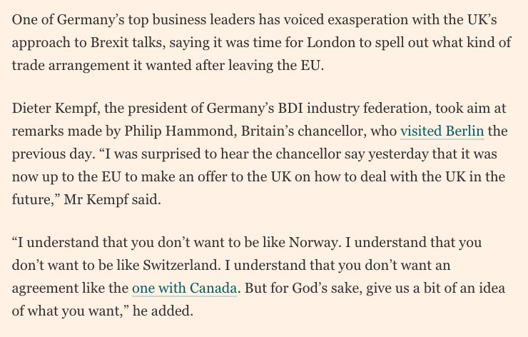 Tobias Buck On Twitter German Industry To British Government Get
