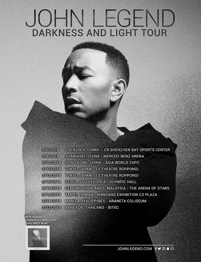 The #DARKNESSANDLIGHT Tour is coming to Asia in March! Check out the full list of dates and purchase tickets for your city here: https://t.co/M8tx53mmgv