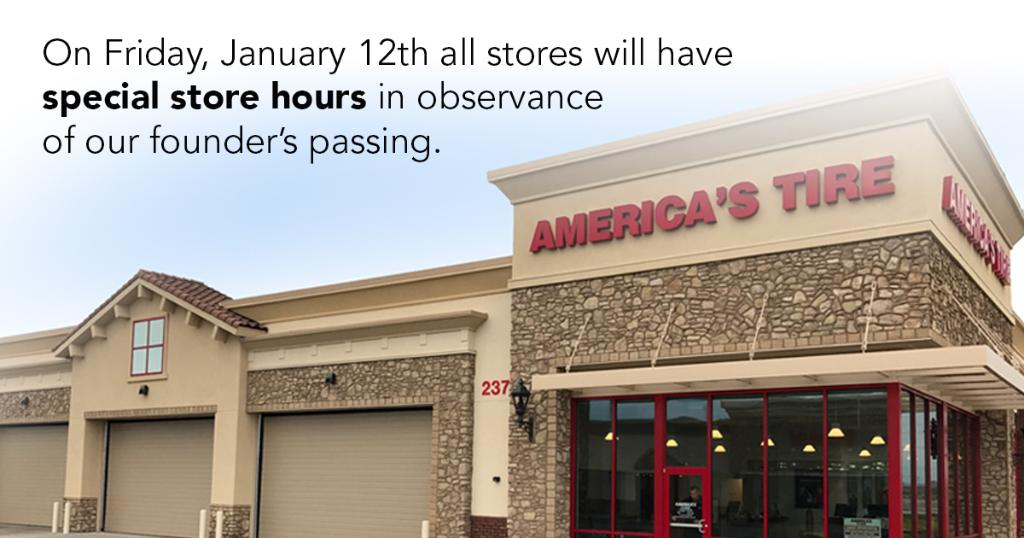 America S Tire On Twitter Our America S Tire Locations Will Not Be