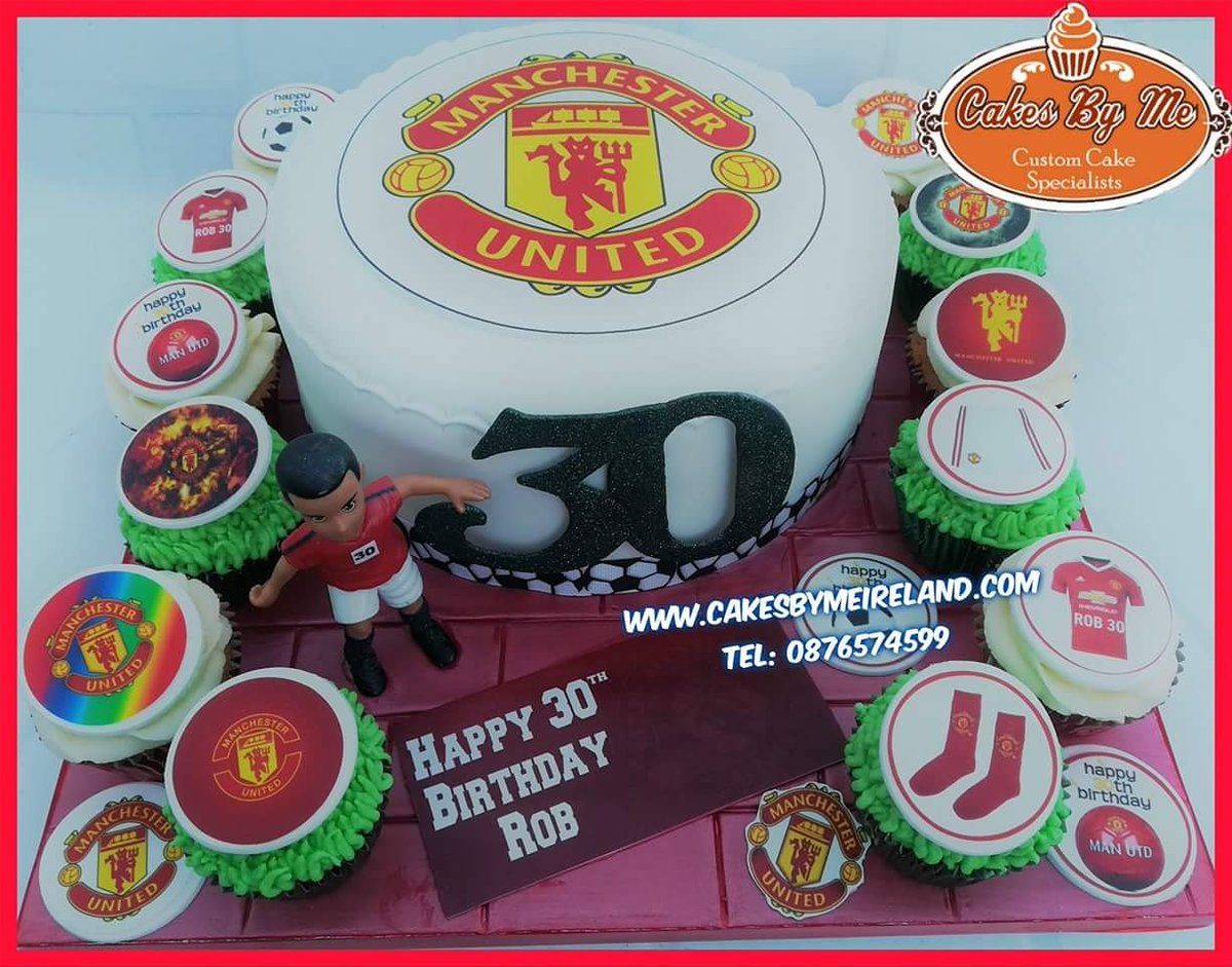 Cakes By Me On Twitter Rob Celebrated His 30th Birthday Last Week And Had This Man Utd Themed Cake Cakeart Cakecakecake Manutd