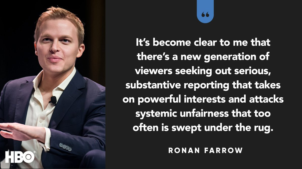 RT @HBO: Welcome to the #HBO family, @RonanFarrow. https://t.co/jB5FkNkbR8 #TCA18 https://t.co/bxawrsoQya