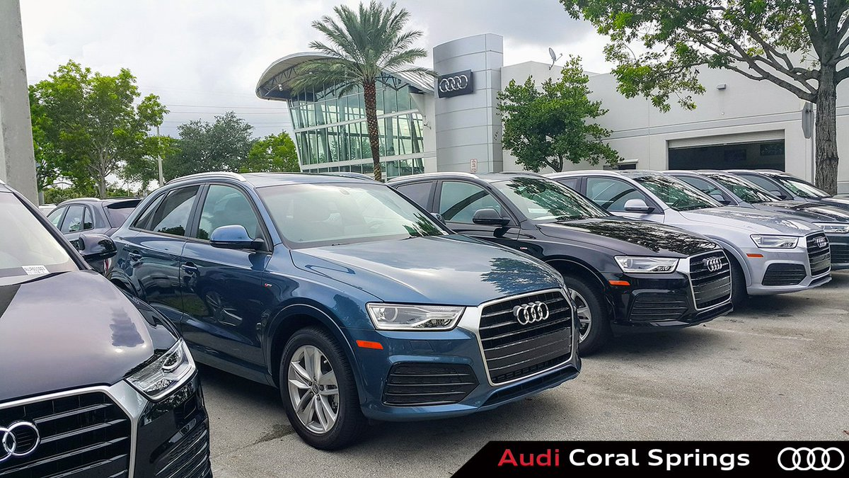 Audi Coral Springs On Twitter Q Q Q We Have Them All At Audi - Coral springs audi