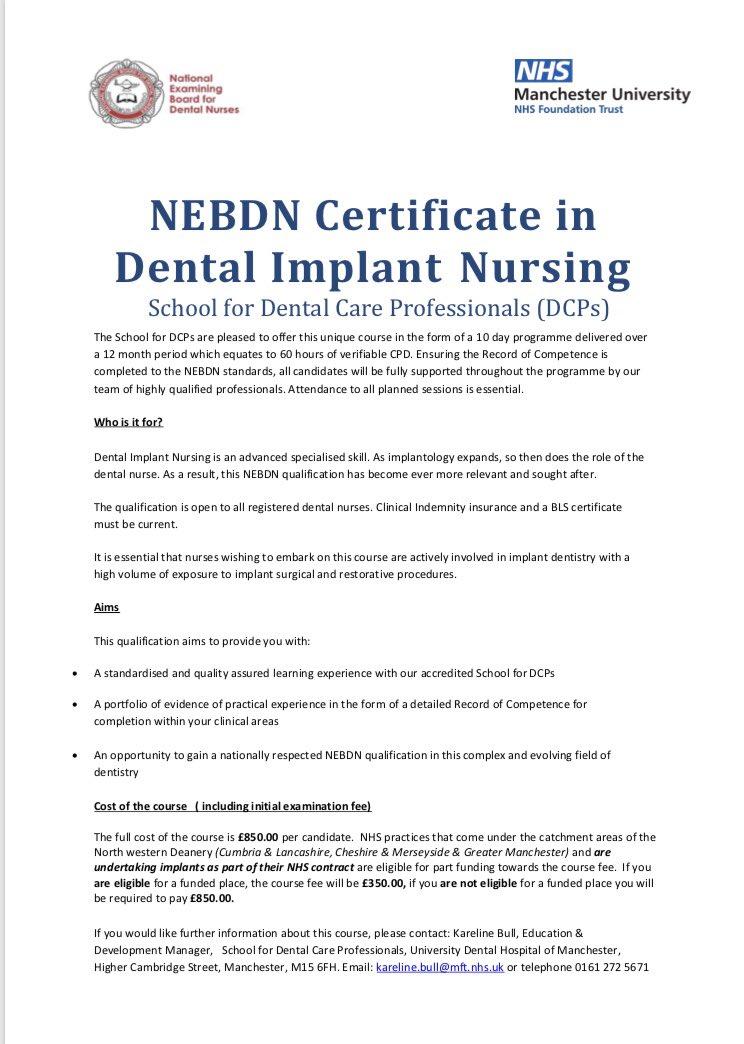 Uni Dental Hosp Manc On Twitter Uhdm Are Proud To Be Offering