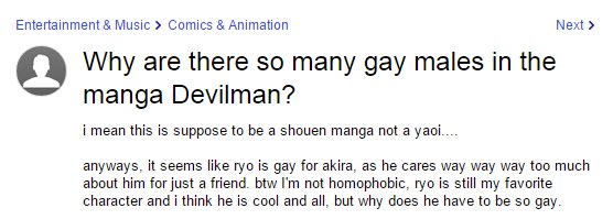 this is my only real contribution to the devilman fandom
