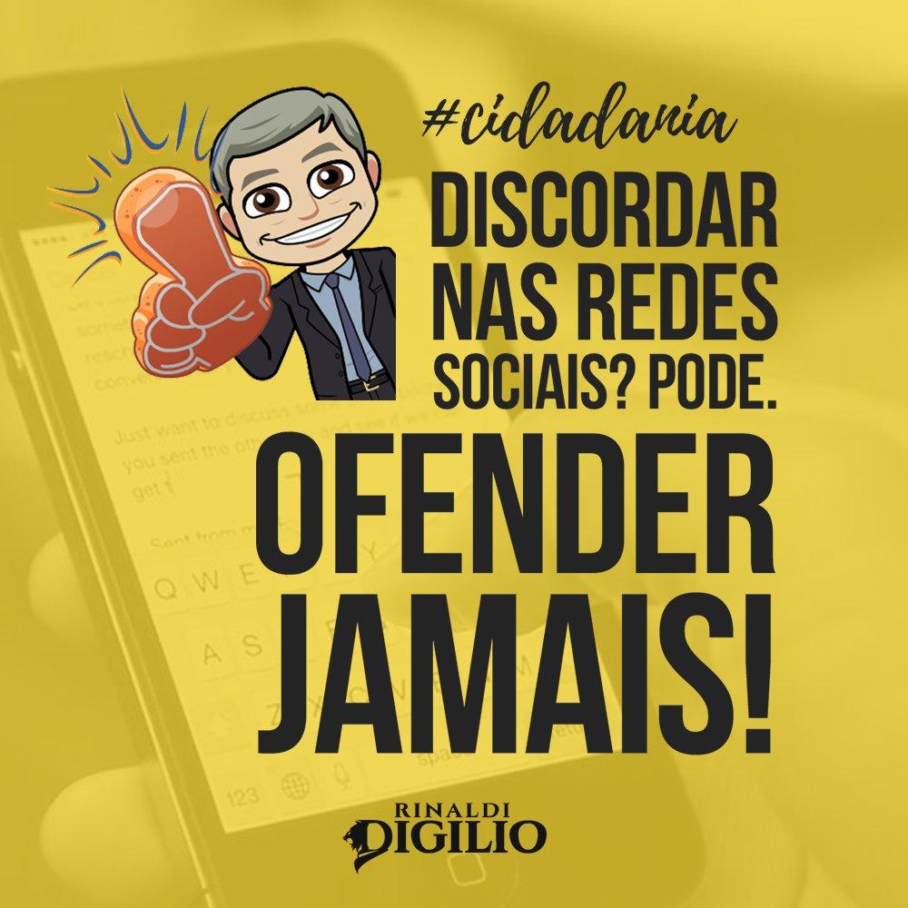 """Ο χρήστης Rinaldi Digilio στο Twitter: """"Discordar e debater nas ..."""