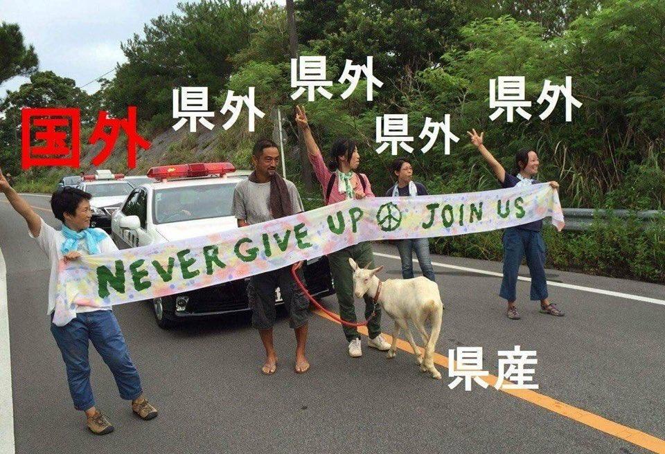 なんども説明してますが、こんなことしてるのは、ほとんどが県外、韓国から来た活動家です。沖縄の人間はこ…