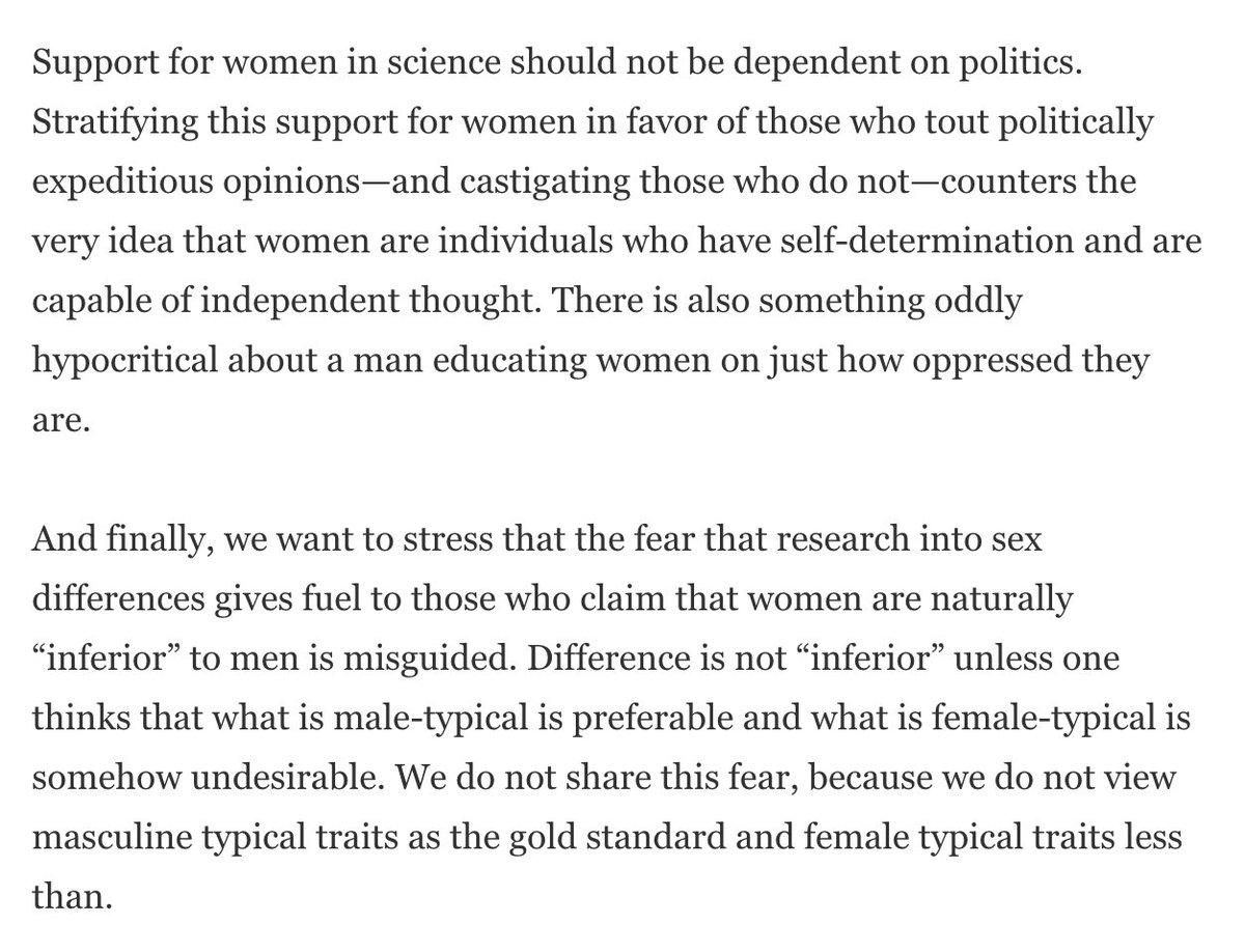 """michael shermer on stop try to """"protect"""" women in   that women need men to protect them scientificamerican com voices a different take on sexism in science pic com vqjdrhszz5"""