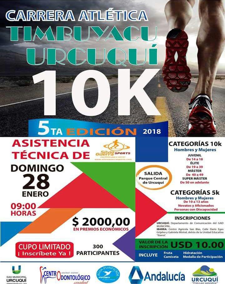 Calendario Supermaster.Carreras Ecuador On Twitter 10k Timbuyacu Urcuqui