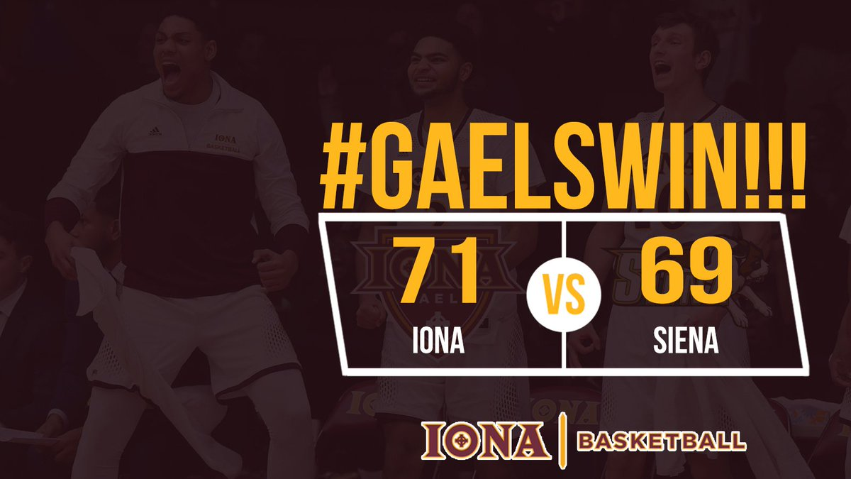 Iona Athletics's photo on Siena