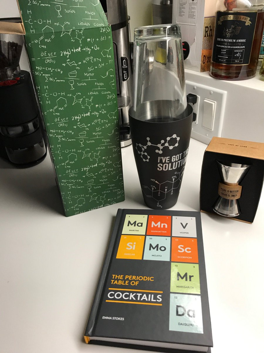 thoughtful former grad student offers you brilliant presents for christmas thanks birercaroline chemistry shaker and cocktail book by ginmonkeyuk
