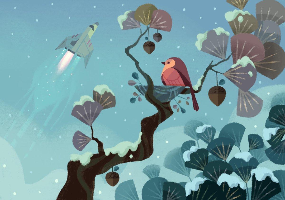 jennifer hom on twitter new year card for blinkk jeremydw illustration illustratorsoninstagram illustrator drawing art digitalart procreateapp