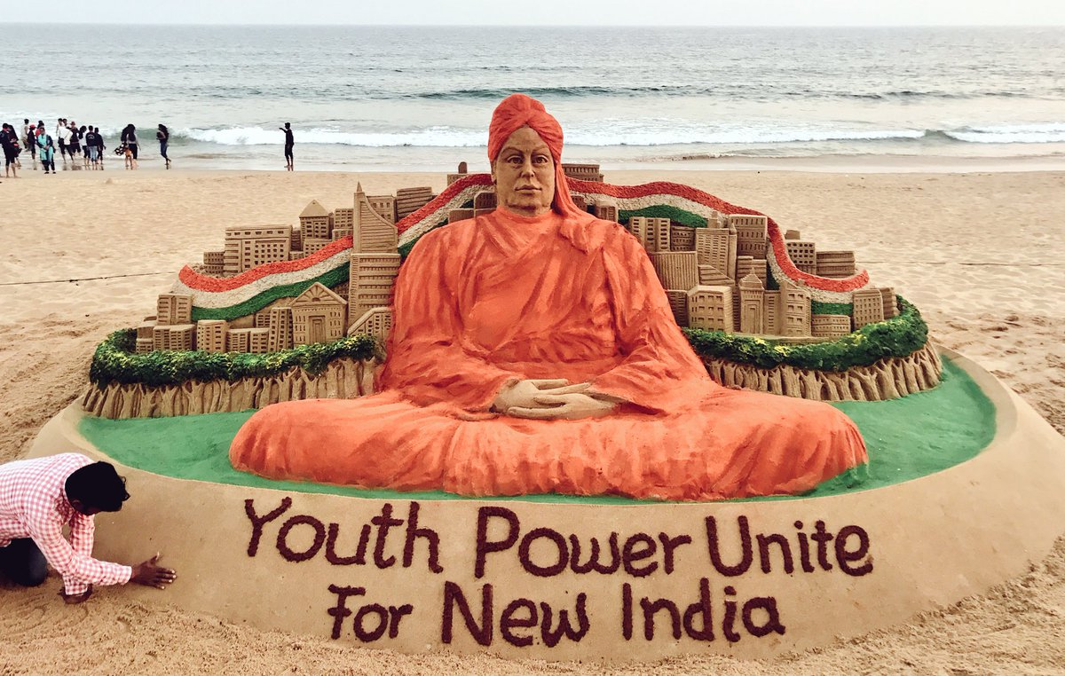 Abhay shukla on twitter you cannot believe in god until you abhay shukla on twitter you cannot believe in god until you believe in yourself swami vivekanand sand art by sudarsansand nationalyouthday solutioingenieria Choice Image
