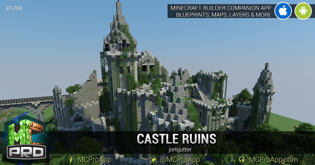 Mcproapp on twitter 1299 castle ruins by jortgutter a blueprints for minecraft over 1300 free builds and maps for your mc world get the app for free here httpmcproapp ios android mcpe mcpc malvernweather Image collections