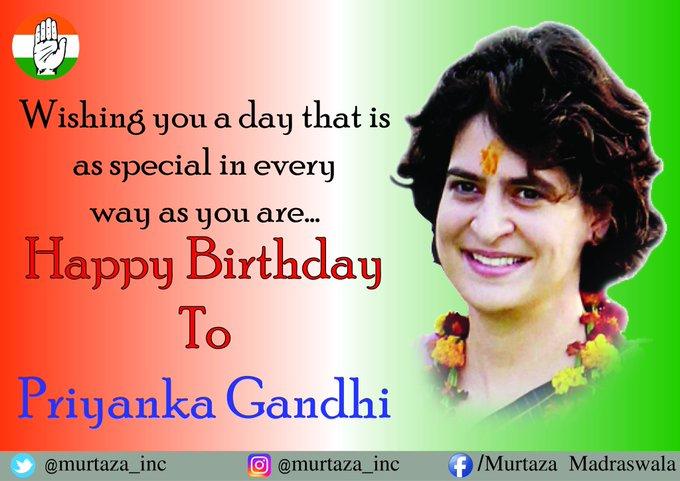 Happy Birthday Priyanka Gandhi Ji